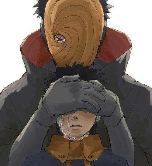 Obito, crying, sad, Tobi, Akatsuki, different ages, time lapse, Sharingan; Naruto