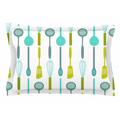 East Urban Home Kitchen Utensils by AFE images Pillow Sham Size: King
