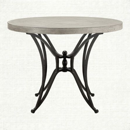 Concrete 36 Round Dining Table With Kenya Base By Arhaus Dining