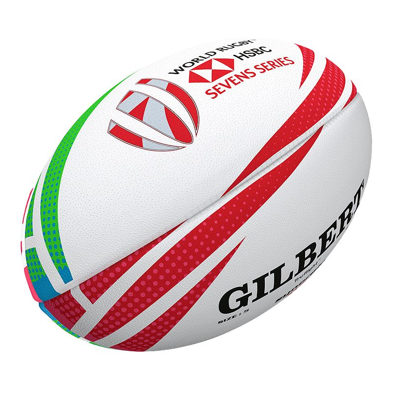 Gilbert 2019 HSBC Sevens Series Rugby Ball White