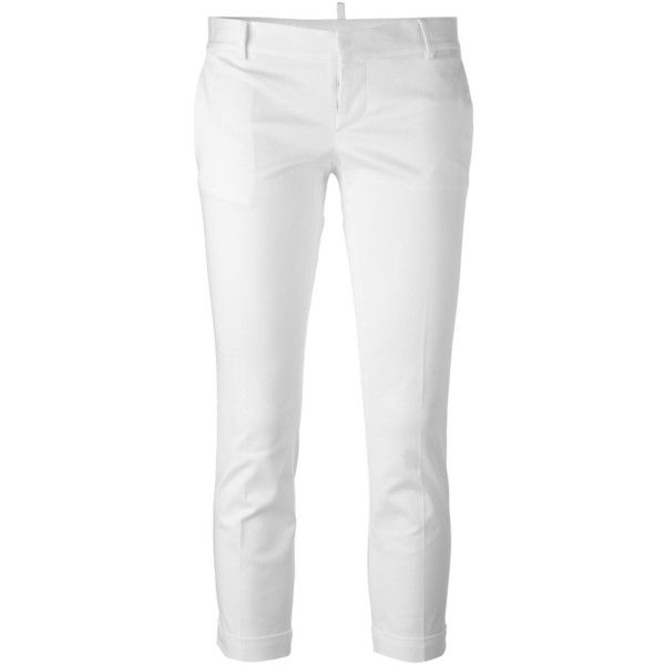 Pantacourt Slim - Dsquared2 Blanc nOT6n0