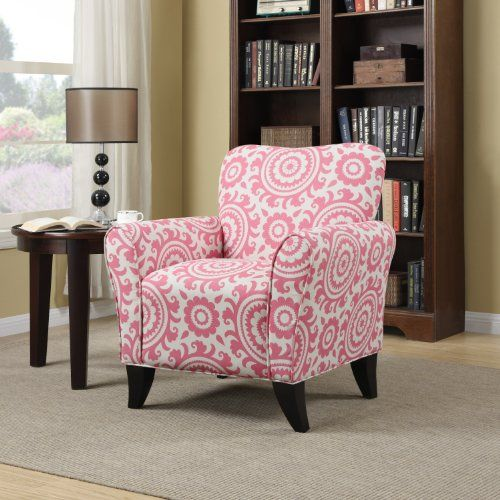Cheap Handy Living Sasha Chair in Magenta Medallion https ...