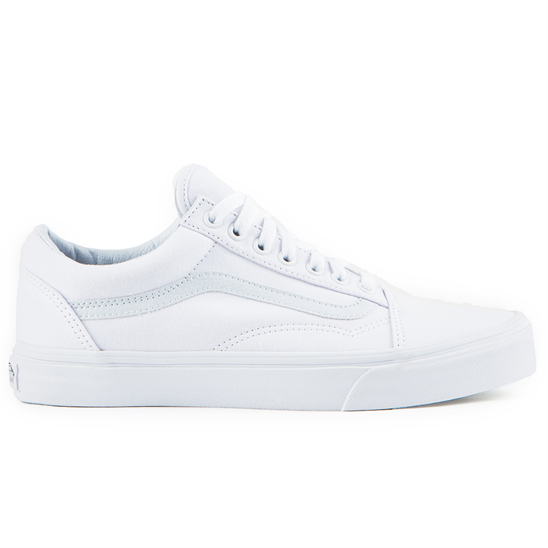 ac10b88bdb The Vans Old Skool Men's Shoes in the True White Colorway are Vans classic  skate shoe and the first to bare the iconic side stripe.