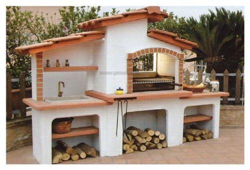 Dettagli su barbecue in muratura a legna con acquaio for Articoli per esterno