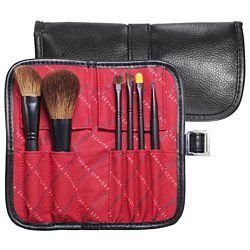 SEPHORA COLLECTION Two Tone Portfolio Brush Set, $44  - blush brush, powder/complexion brush, eyeshadow blending brush, eyeshadow detail brush, concealer brush, & lip brush -