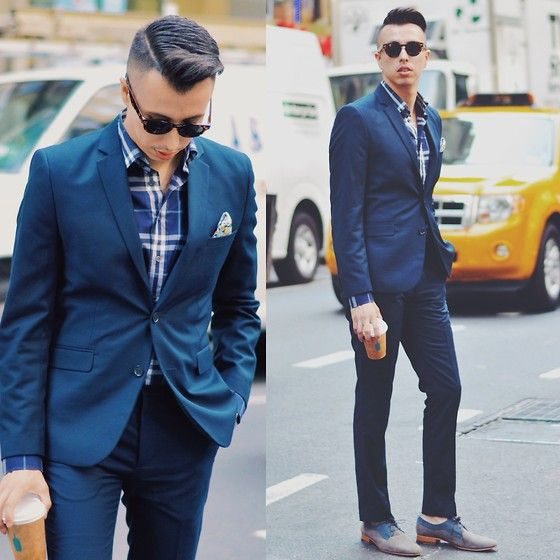 Blake Scott - The David, Burberry Dress Shirt, H&M Blue Suit ...