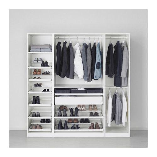 Kleiderschrank ikea pax schwarz  PAX Wardrobe White/hemnes white stain 200x60x201 cm | Garderoben