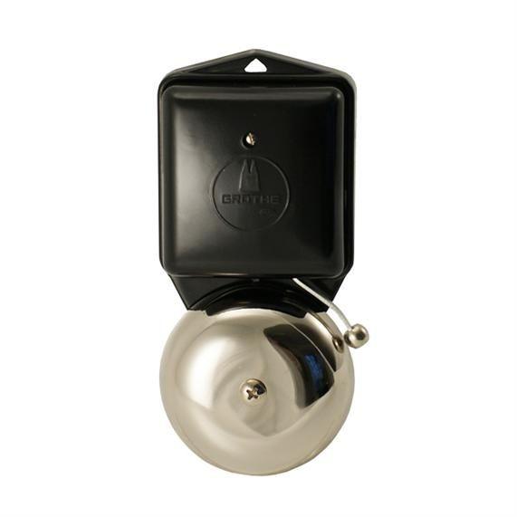 Produkter – Låser og tilbehør til dører – dørbeslag - 3510 Ringeklokke i bakelitt-nikkel