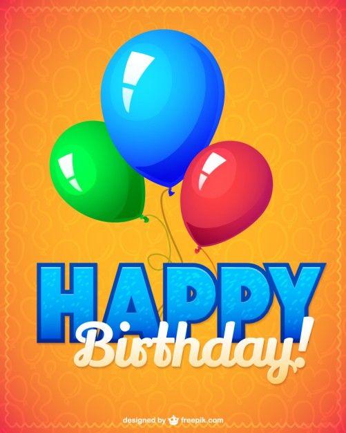 Birthday Party Vector Illustration Free Vector Happy Birthday