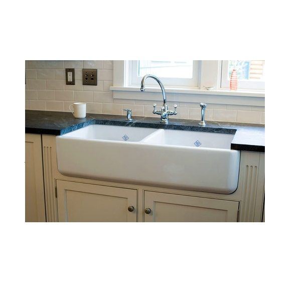 double sink, but with the taps on the wall | chop, bake, eat ...