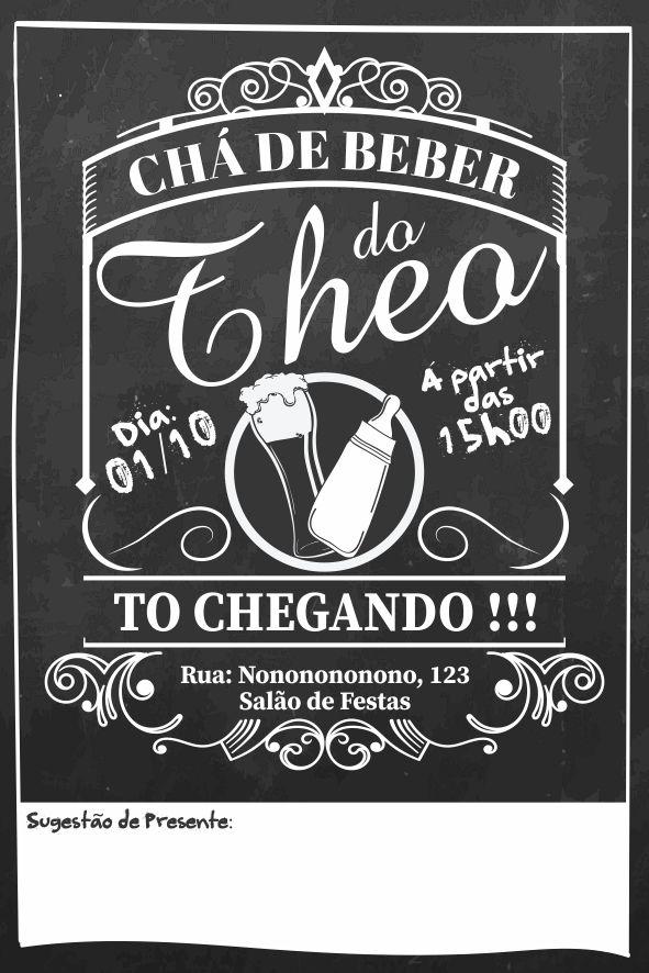 Convite Digital Cha De Bebe Ou Cha Bar Cerveja Mamadeira