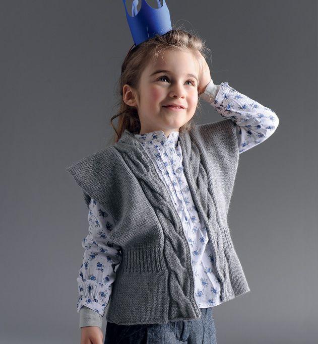 Modèle Gilet à Torsades Enfant Modèles Tricot Enfant