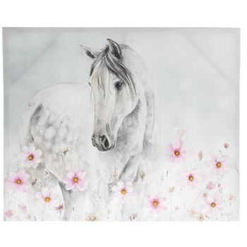 White Horse With Flowers Canvas Wall Decor Hobby Lobby 1802099 Horses Wall Decor Canvas Wall Decor Horse Decor Bedroom