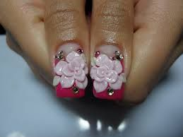 3d nail designs 2014 - Flower