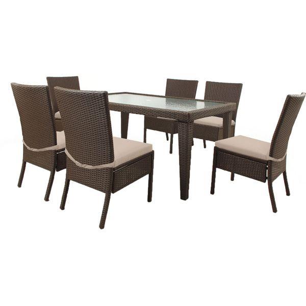 Soho Resin Wicker Patio 7 Piece Dining Set | Meijer.com ($499)
