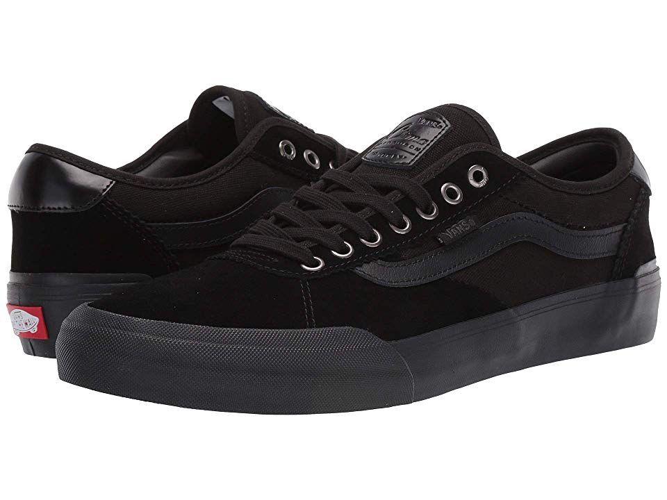 Vans Chima Pro 2 Men's Skate Shoes (Suede) Blackout | Vans