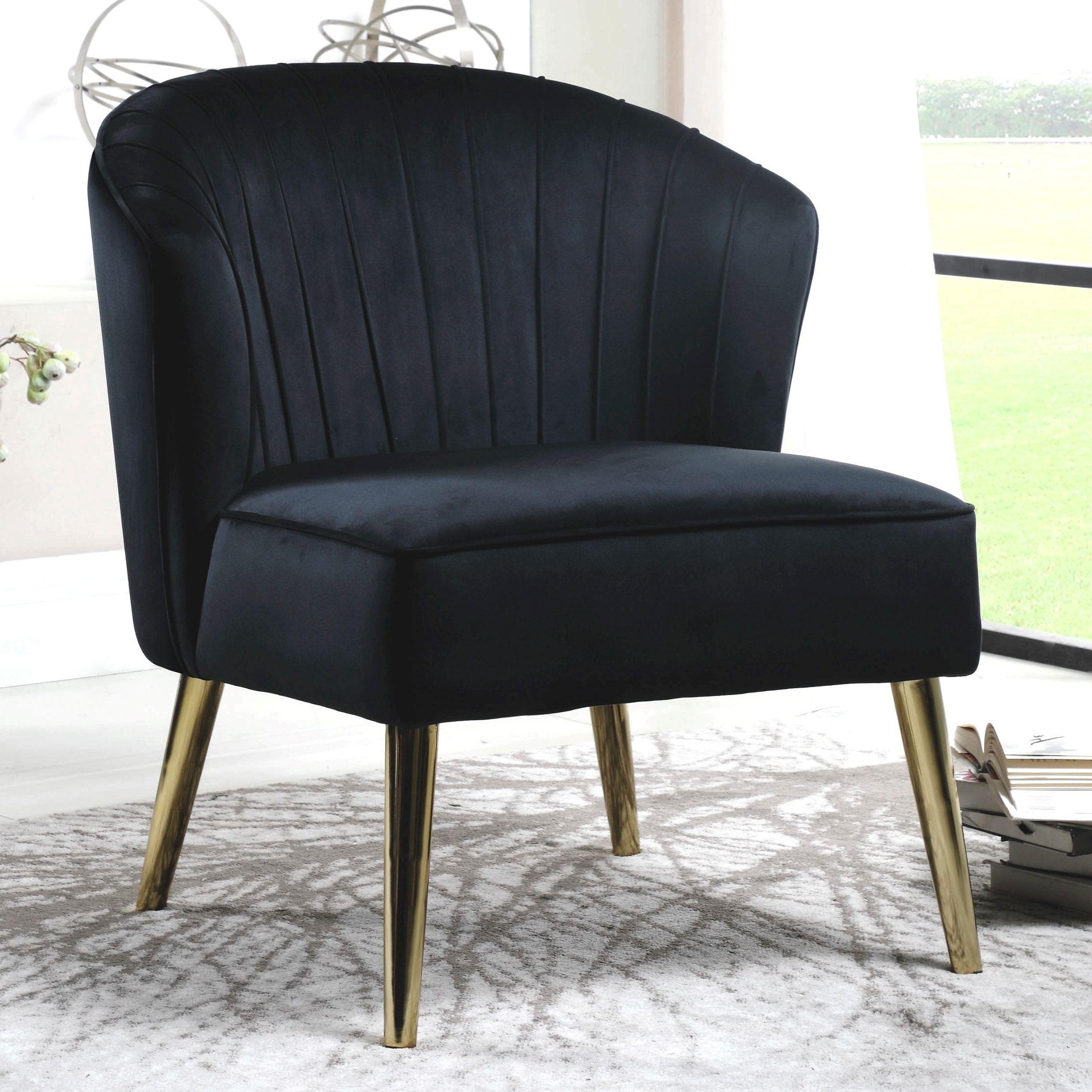 Black velvetbrass midcentury modern living room accent
