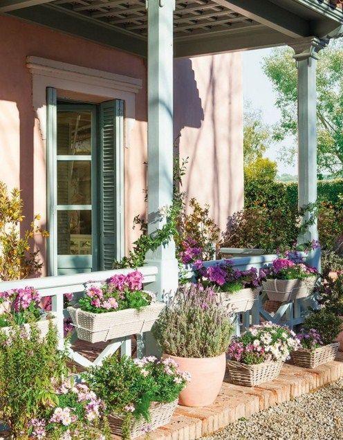 Fachadas con macetas con flores Fachadas Originales Pinterest - fachadas originales