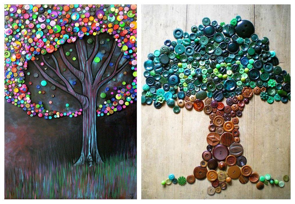 06 reciclaje botones murales reciclados pinterest
