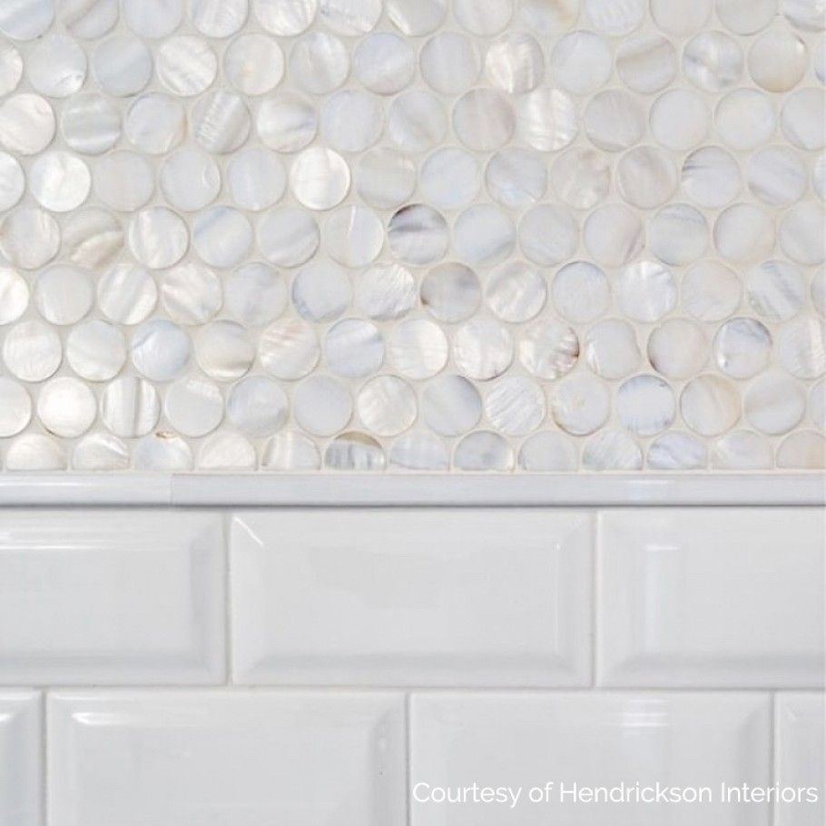 Oyster White Pearl Penny Round Tile Penny Round Tiles Penny Tiles Bathroom Penny Tile Backsplash