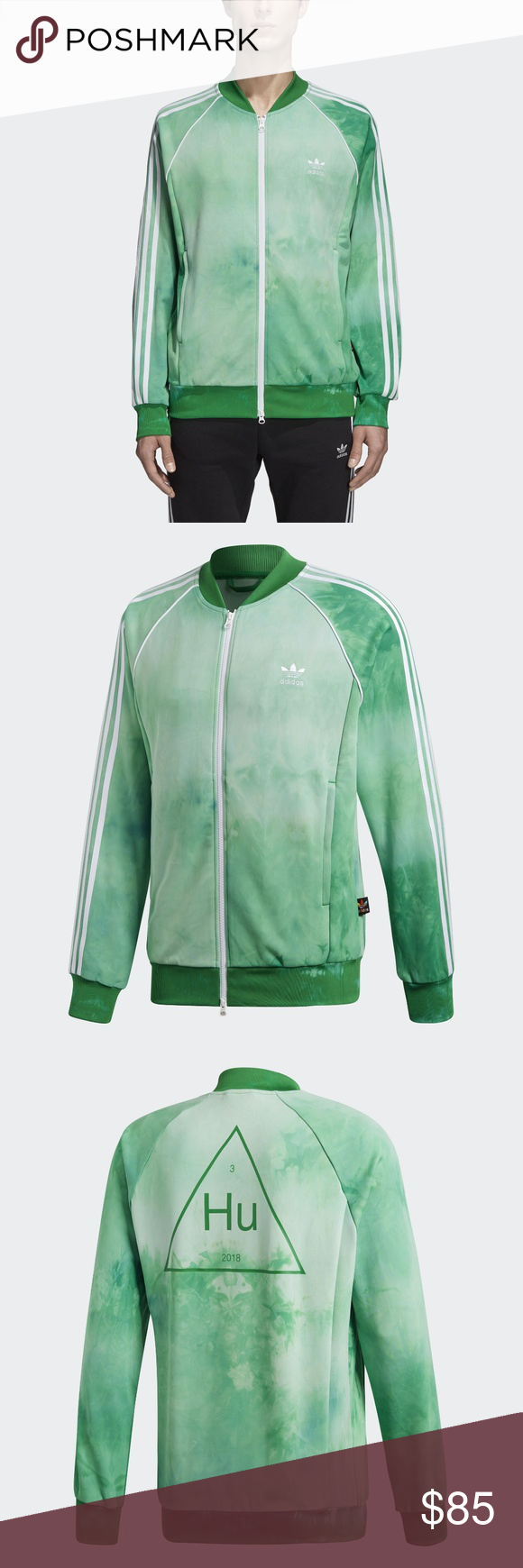 ef84ad8002e30 adidas Green Track Jacket The Holi Festival is the color-splashed ...