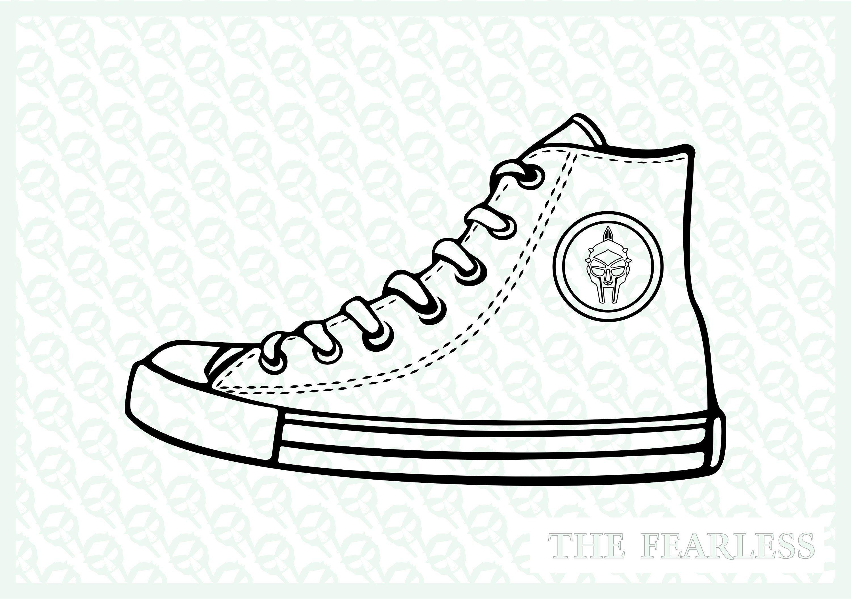 Converse Shoe Clipart Vector File Converse Shoe Drawing