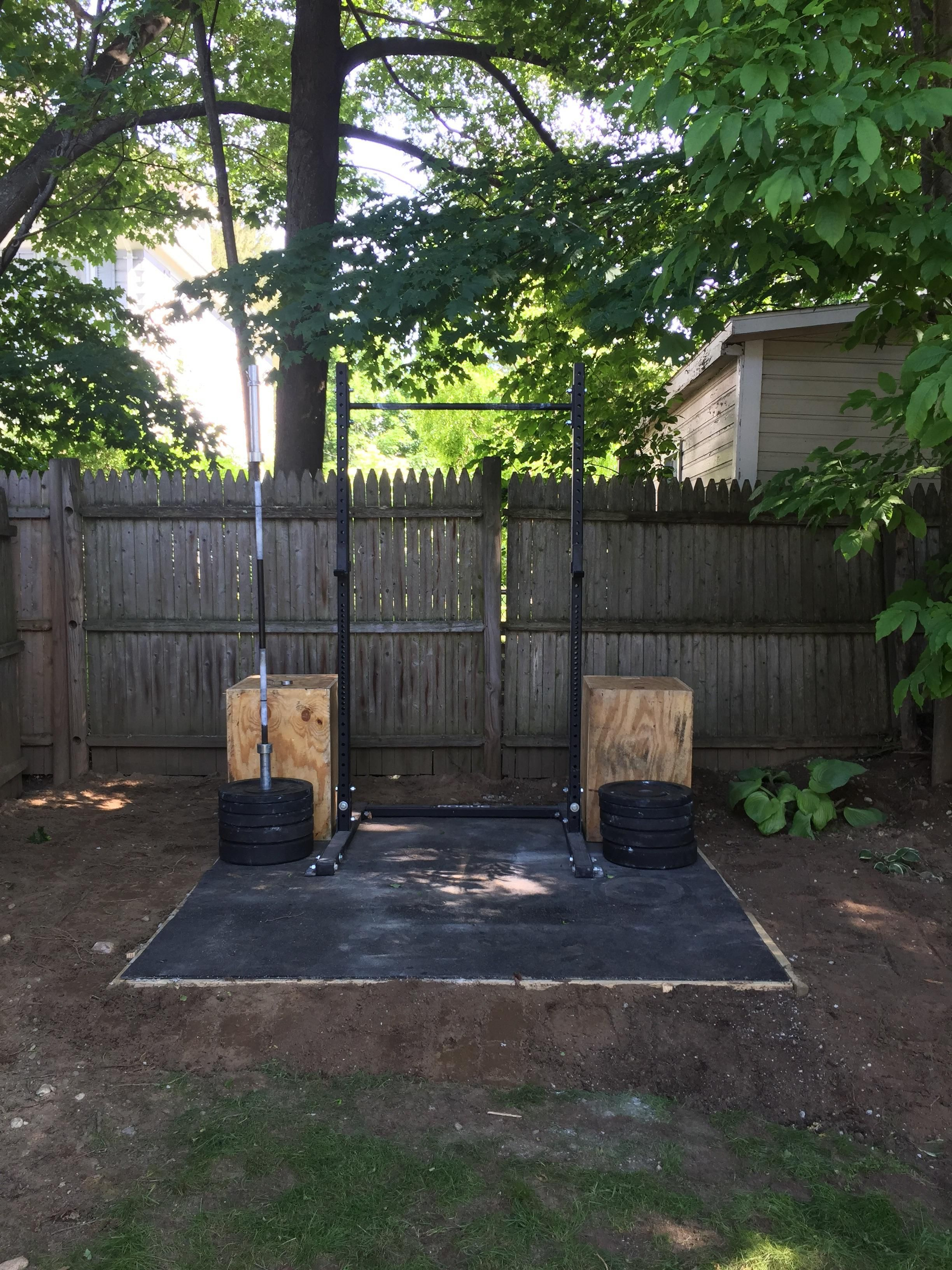 Brought the home gym outside #crossfit #fitness #WOD #workout