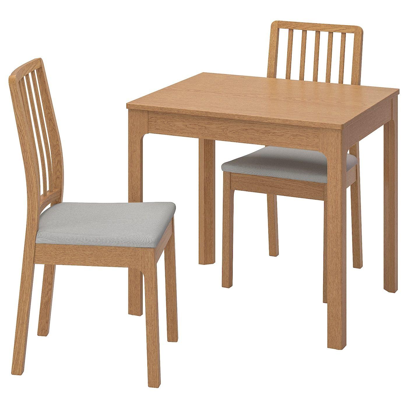 Ekedalen Ekedalen Tisch Und 2 Stuhle Eiche Orrsta Hellgrau