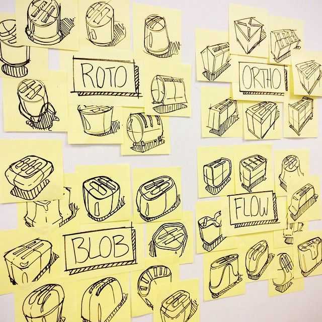 Embrace the rapid post-it sketch! I learned this form development ...