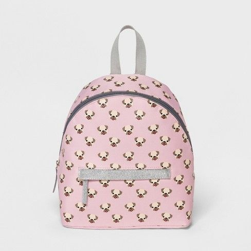 Kids Emoji Pug Backpack - Pink   Target Nursery School, Emoji, Pugs,  Backpacks 25dbe54c89