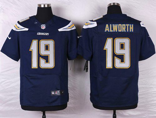 Men's San Diego Chargers #19 Lance Alworth Navy Blue Team Color NFL Nike Elite Jersey