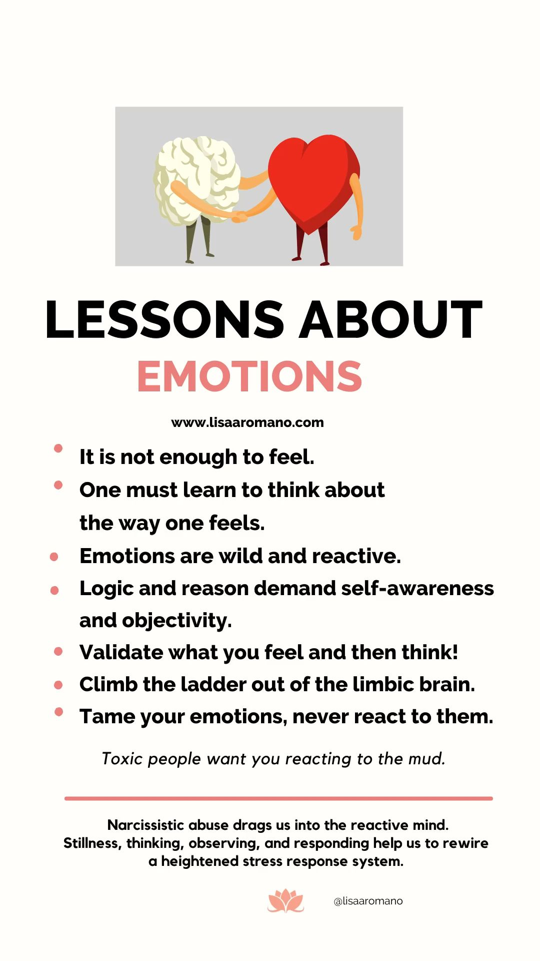 Lessons About Emotions