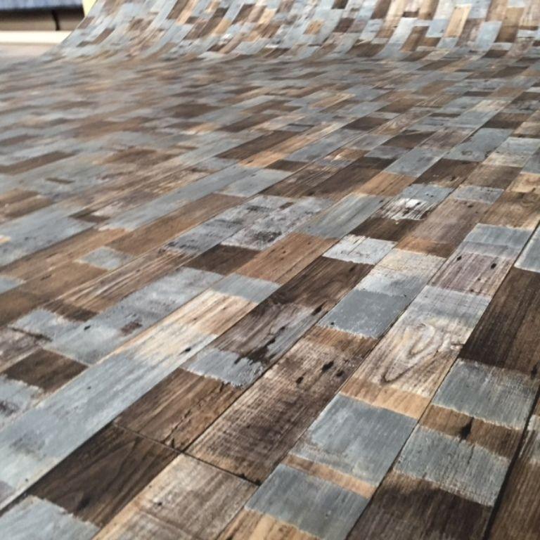 Details Zu Pvc Bodenbelag Holz-Optik Planken Vintage Dunkel 200 Cm