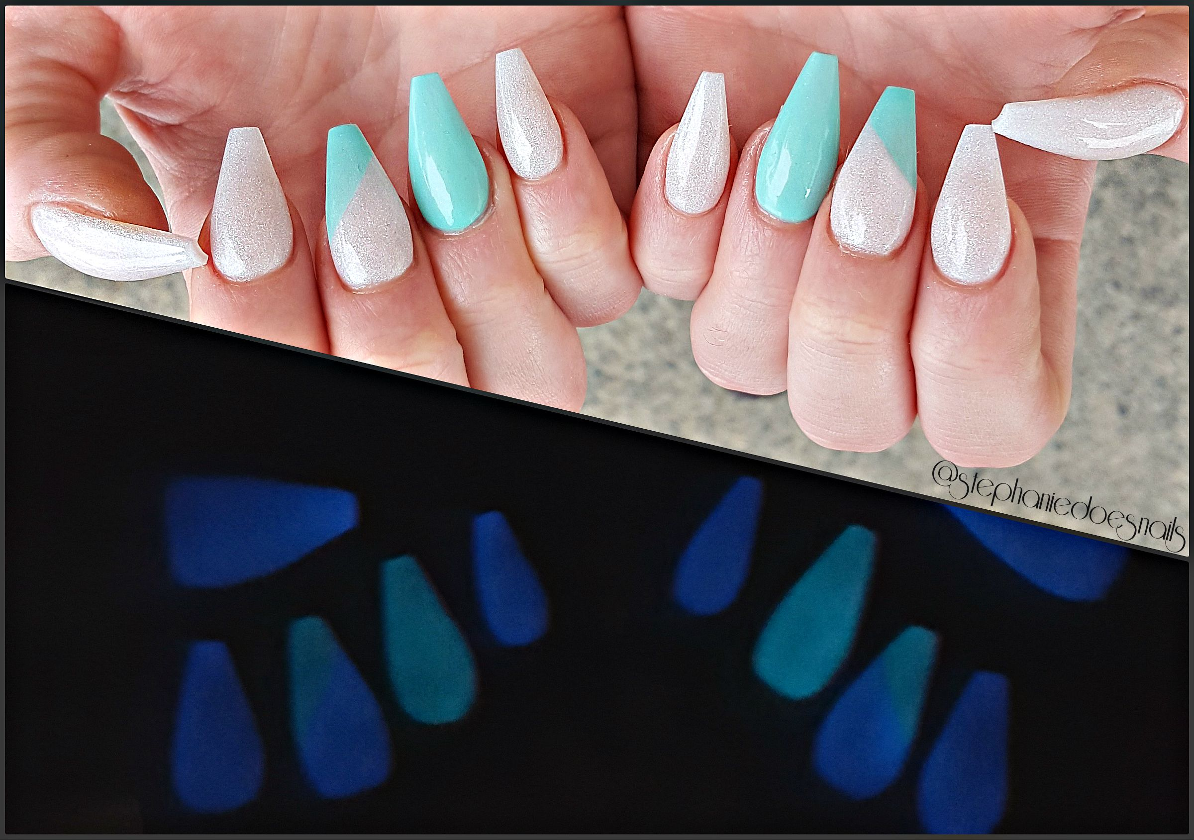 Glow in the dark coffin nails   Nails   Pinterest