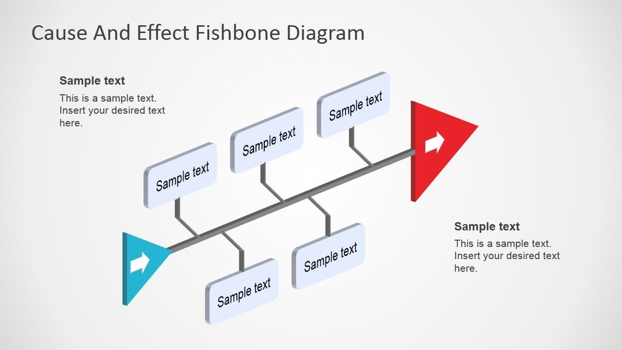 Fishbone Diagram Template D Perspective  Business Powerpoint