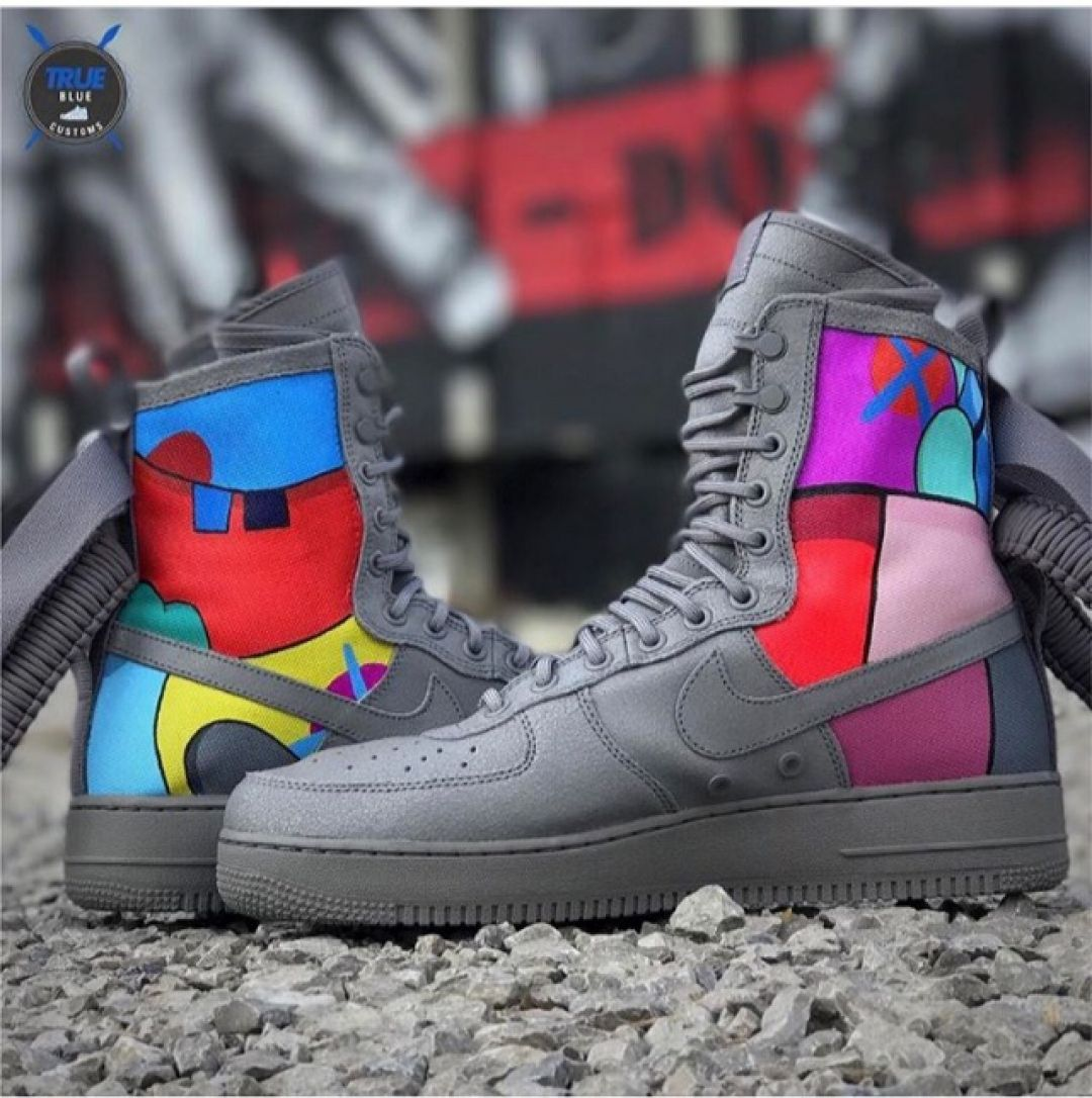 763b86a2bae KAWS AF1 s SF s by  truebluecustoms Cop or drop   customizerdepot. KAWS  AF1 s SF s by  truebluecustoms Cop or drop   customizerdepot Custom Shoes  ...
