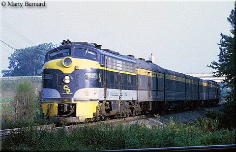 Chesapeake & Ohio E8A #4021 is the power for today's westbound George Washington, train #41, as it travels through the beautiful countryside of Doswell, Virginia on September 22, 1968.