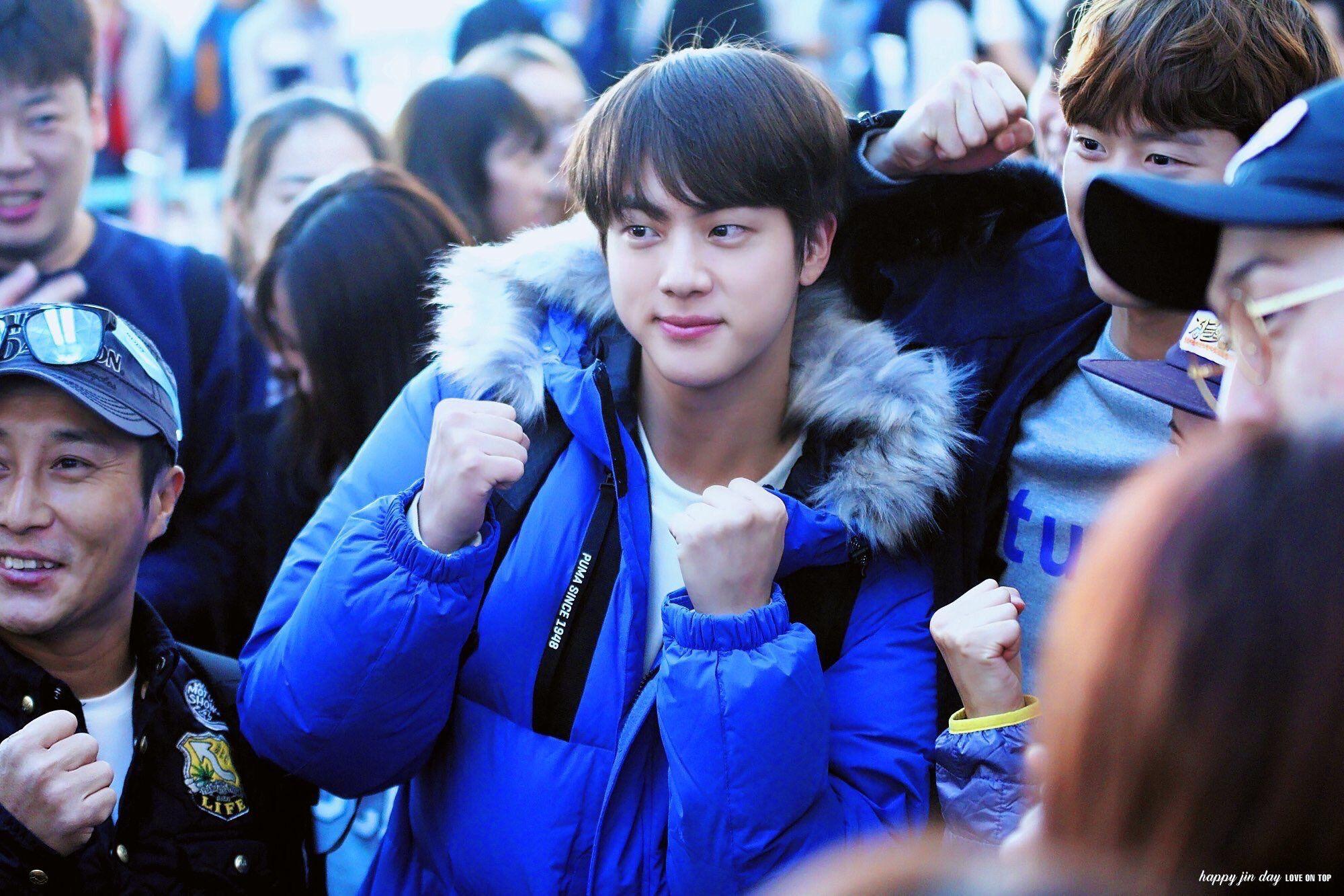 Jin Cute Smile Law Of The Jungle Kim Seokjin Birthday Seokjin Worldwide Handsome