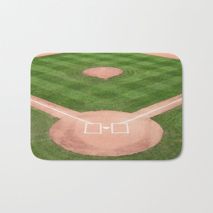 The Perfect Bath Mats Fuzzy Foamy And Finely Enhanced With Brilliant Art Featuring A Soft Quick Dry Microfiber Surface Baseball Field Shower Rugs Bath Mat