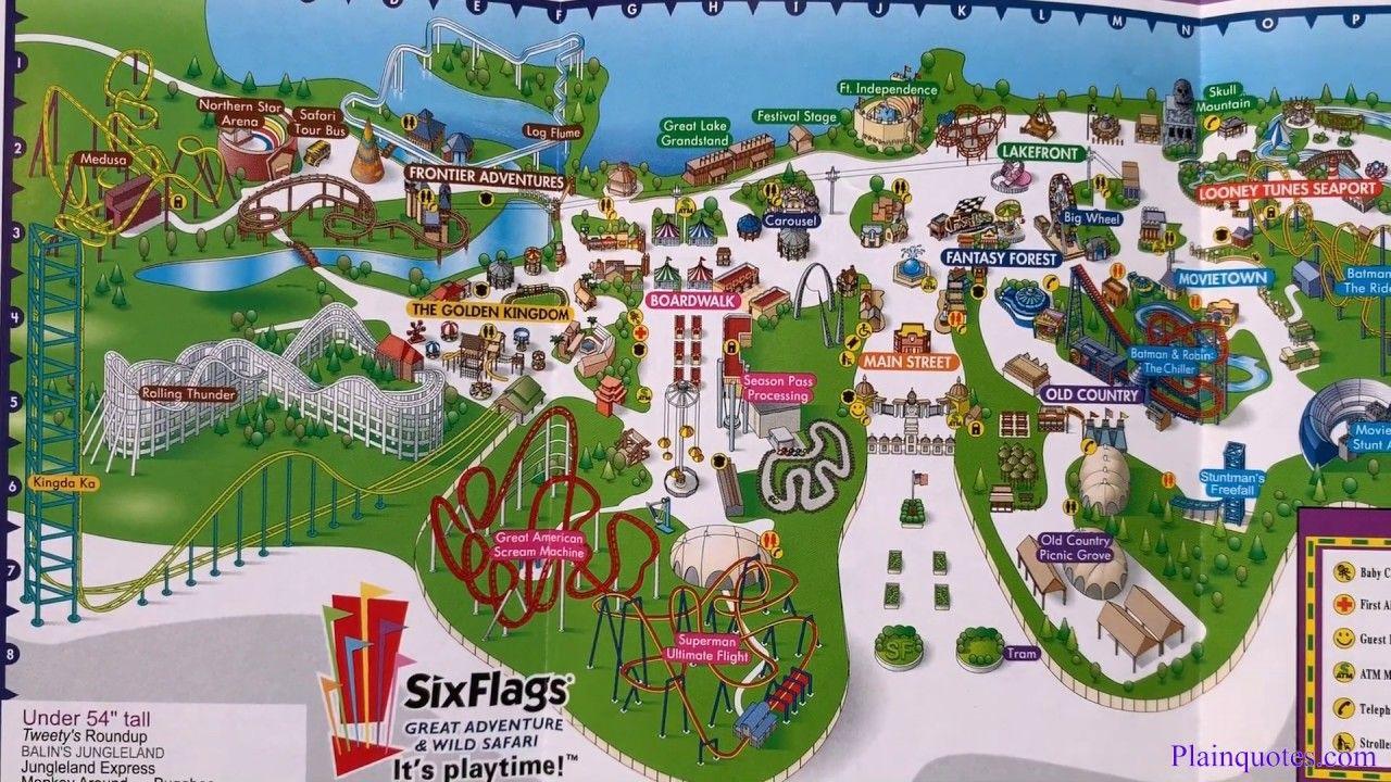 2005 Six Flags Theme Park Map Jackson New Jersey Theme Park Map Theme Park Disney Map