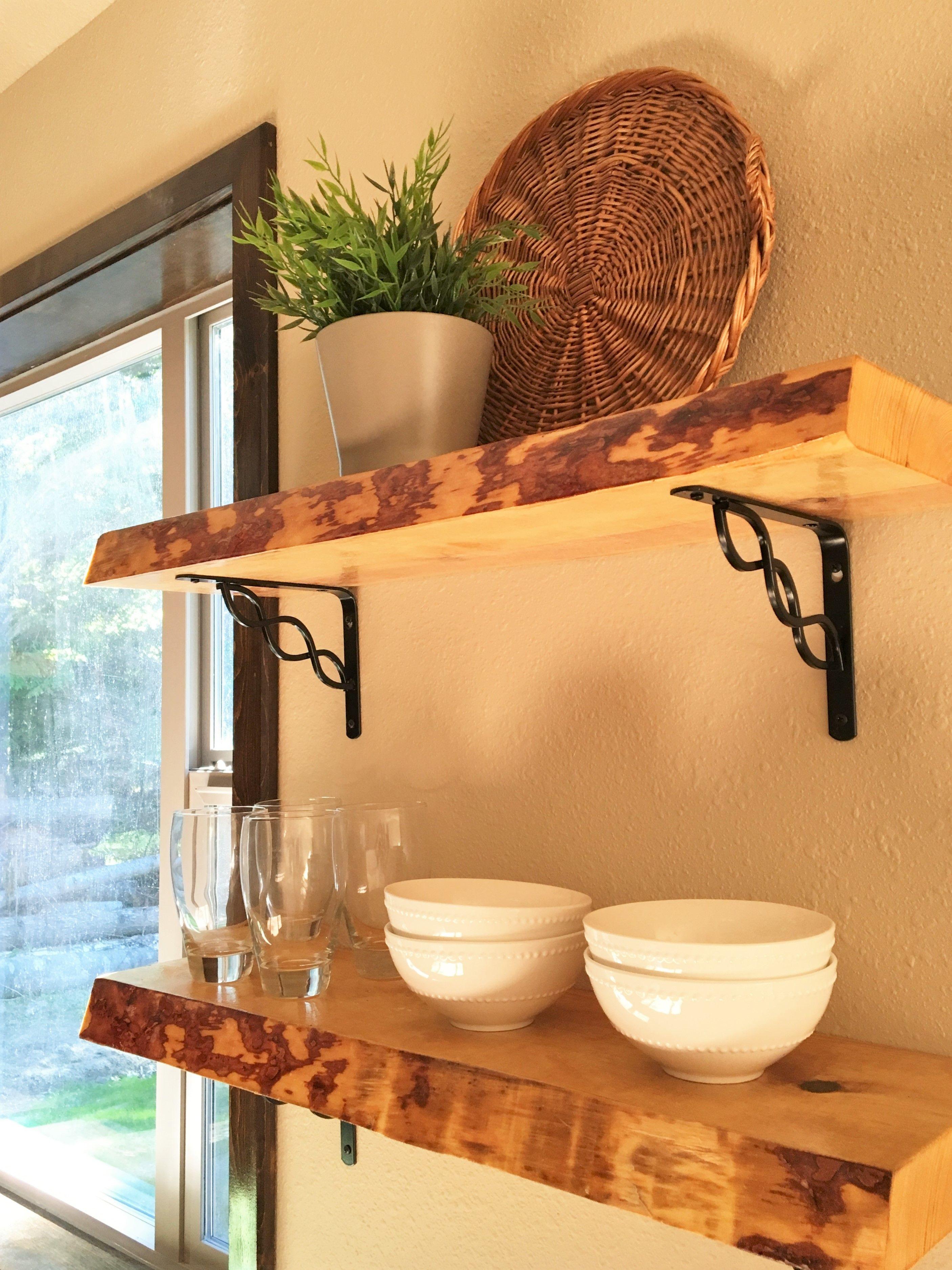handmade live edge floating shelves for this custom on floating shelves kitchen id=22316