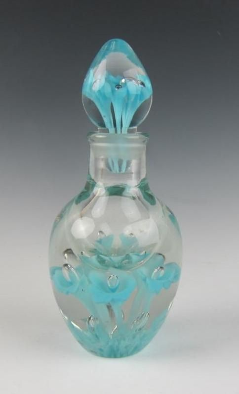 Joe St. Clair Art Glass Floral Perfume