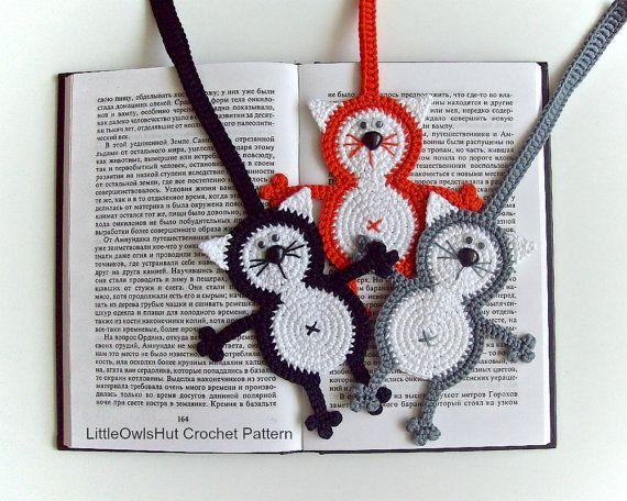 069 Cat Baton Bookmark Or Decor Amigurumi Crochet Pattern Pdf