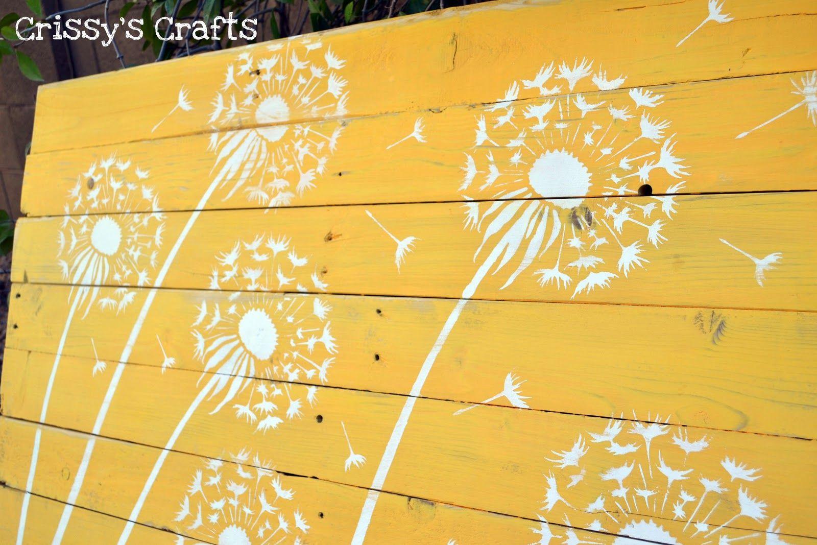 Pallet Dandelions Wall Decor | DIY Wall Art | Pinterest | Dandelions ...