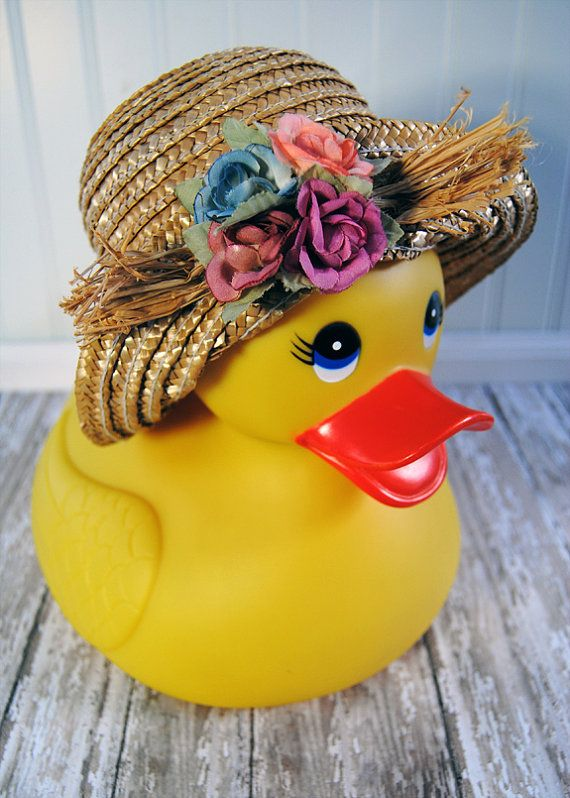 Rubber Duckie - Floral Print - Nursery Decor - Rubber Duck - Wall ...