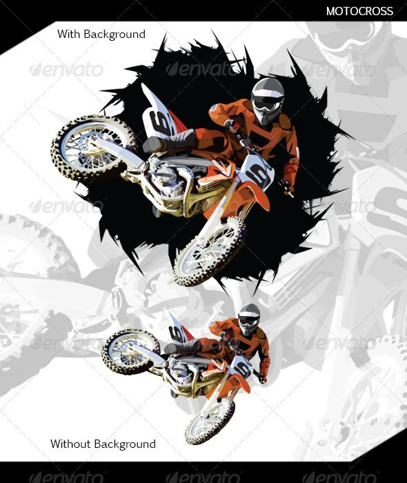 Motocross Vector Icons Graphics Icon Font Print Fonts Action