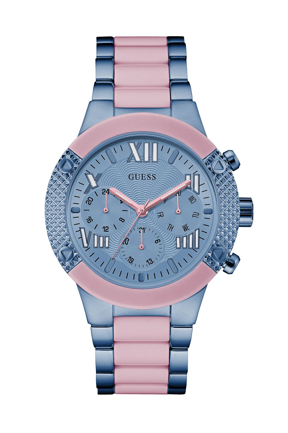 cd7367433b47e Pink and Blue Show-Stopping Sport Watch   GUESS.com   GUESS   The ...
