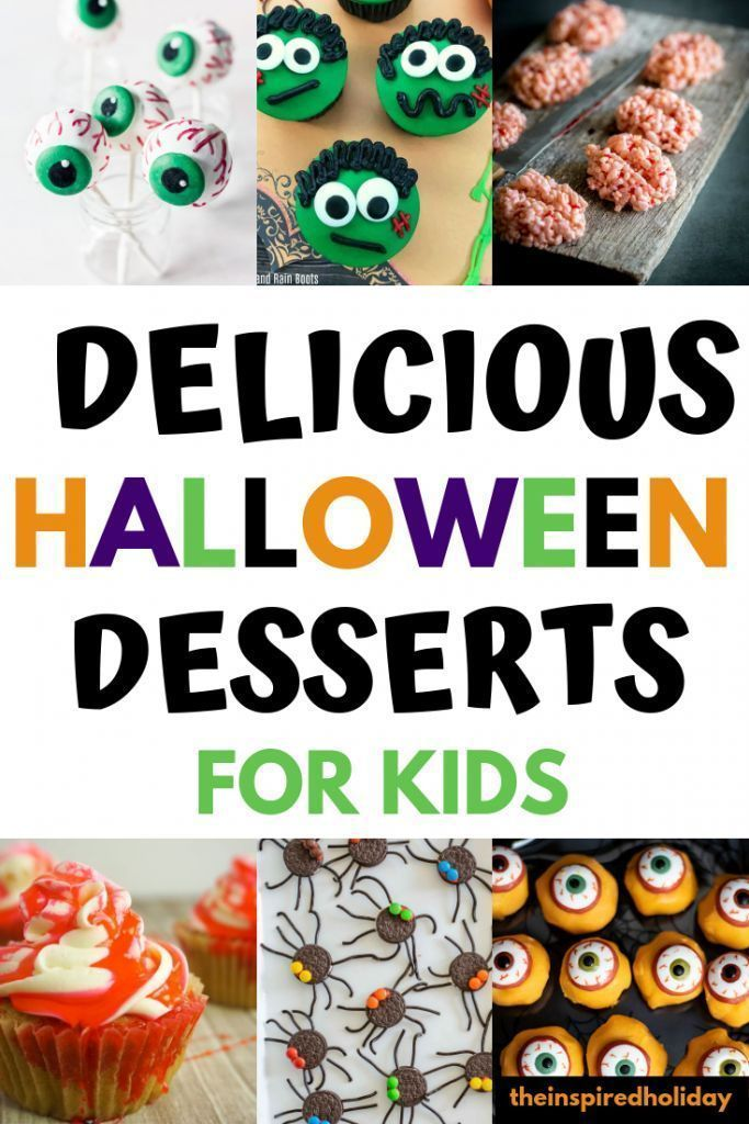 Delicious Halloween desserts for kids. Find find, simple and delicious dessert recipes to make with your kids this Halloween. Start a fun new Halloween traditions by making one of these festive treats.