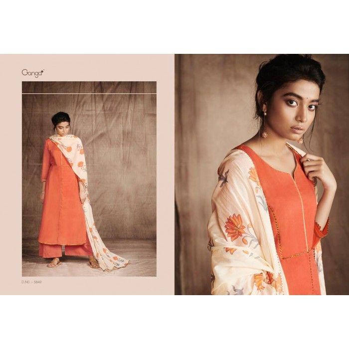 ede524ce1237 Ganga Pushp Cotton Palazzo Salwar Suit Wholesale Catalog