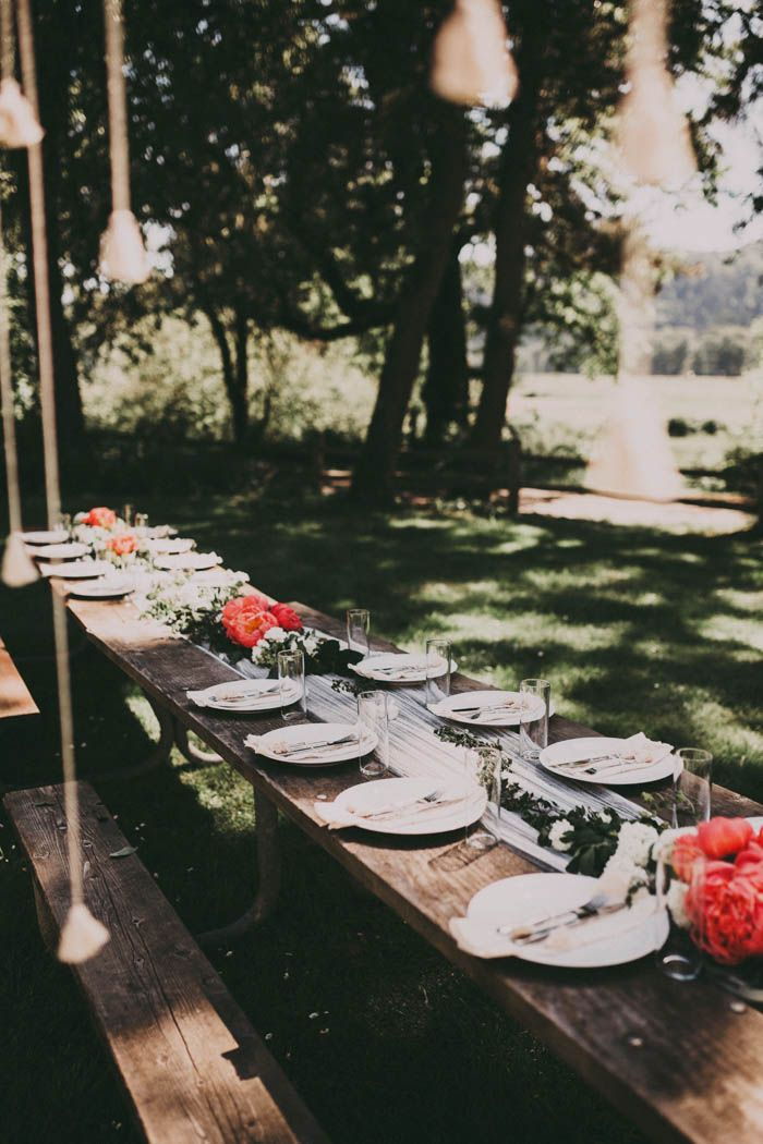 Bohemian Tablescapes From This Free Spirited Sauvie Island Wedding